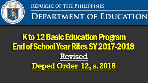deped graduation 2018