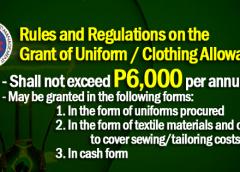 uniform allowance 2018