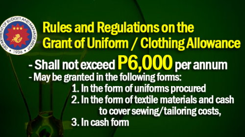 uniform allowance 2018