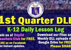 1st quarter Daily Lesson Log