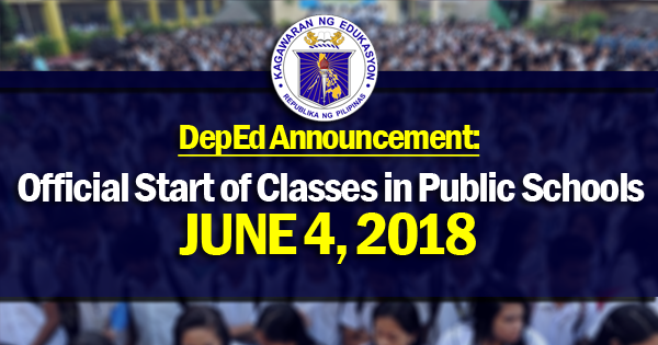 official start of classes 2018