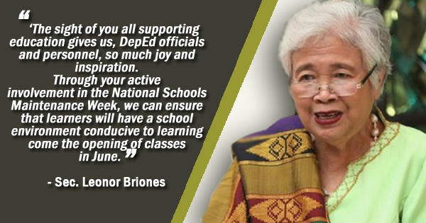 deped thanks volunteers