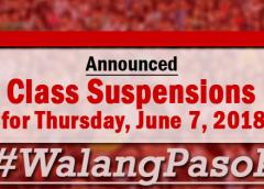 #walangPasok June 7 2018