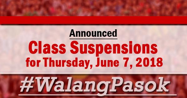 Class Suspension For Thursday June   Walangpasok Bagyong Domeng
