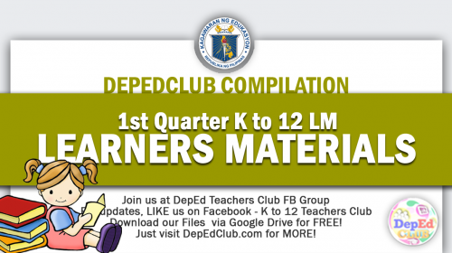1st Quarter Learners materials
