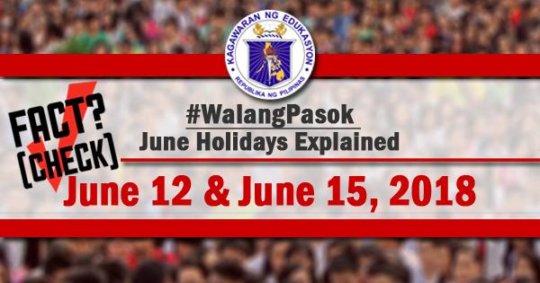 walang pasok june 12 and june 15 2018