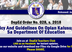 deped order 28 s 2018
