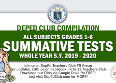 SUMMATIVE TESTS GRADES 1-6 Archives - The Deped Teachers Club