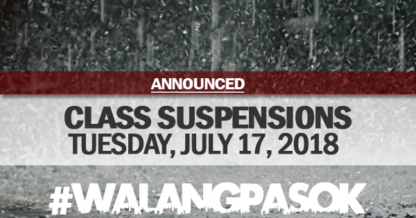 class cancellations july 17 2018
