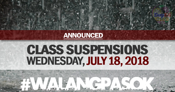 class cancellations july 18 2018