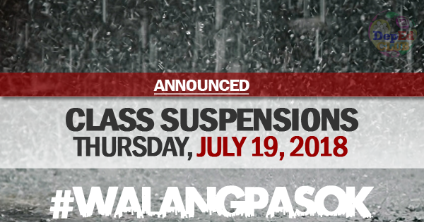 class cancellations july 19 2018