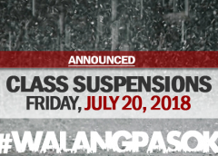 class cancellations july 20 2018