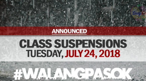 CLASS SUSPENSION JULY 24