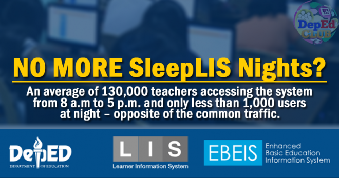 LIS to DepEd's Cloud facilities