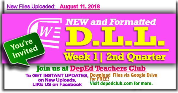 week 1 2nd quarter dll