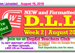 Week 2 - 2nd Quarter Daily Lesson Log