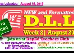 Week 2 - 2nd Quarter Daily Lesson Log