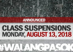 CLASS SUSPENSIONS August 13, 2018