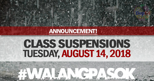 CLASS SUSPENSION AUGUST 14 2018