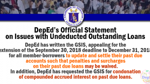 deped issues on undeducted loans