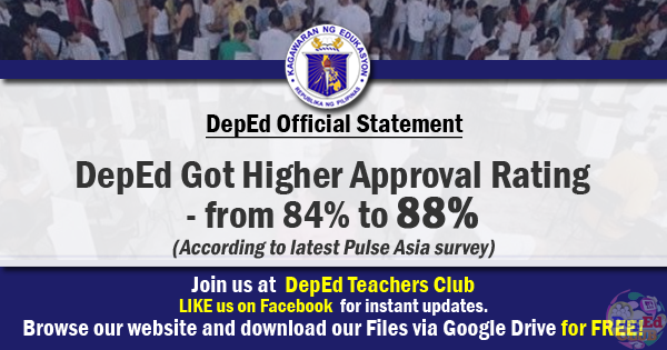 deped approval rating
