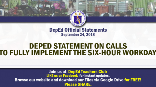 deped official statements