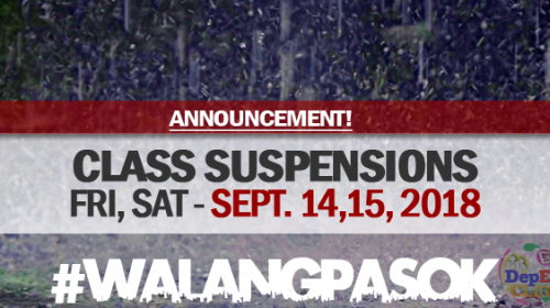 class suspensions for September 14 2018