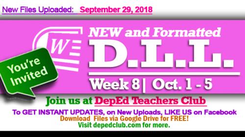 week 8 dll depedclub