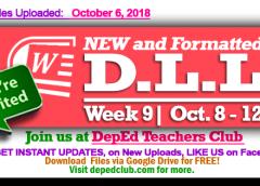week 9 daily lesson log