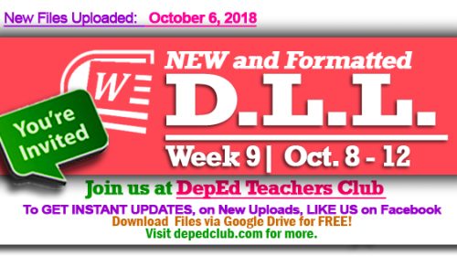 week 9 daily lesson log