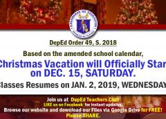 Christmas vacation 2018