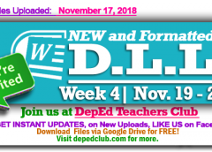week 4 daily lesson log
