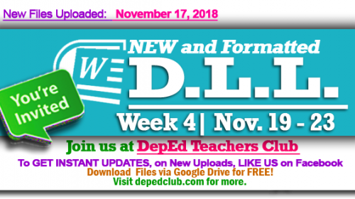 week 4 daily lesson log