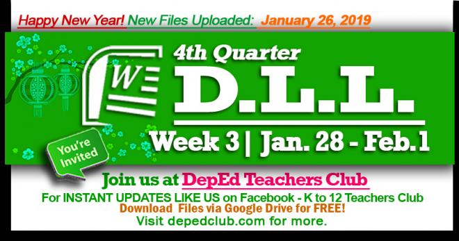 Week 3 daily lesson log