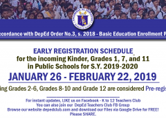 deped enrollment schedule