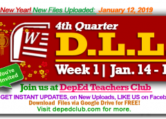week 1 4th quarter daily lesson log
