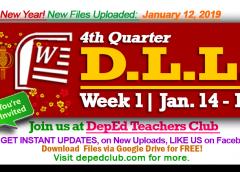week 1 4th quarter daily lesson log