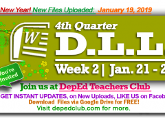 week 2 4th quarter daily lesson log
