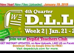 week 2 4th quarter daily lesson log