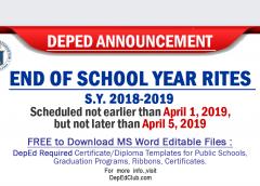 graduation rites 2019