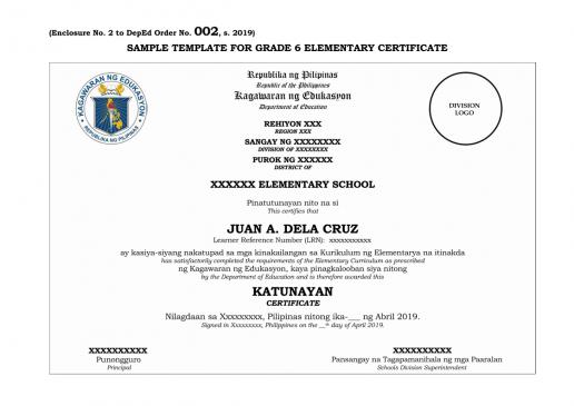 Grade 6 Certificate