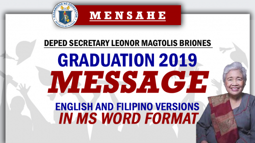 Graduation 2019 Message