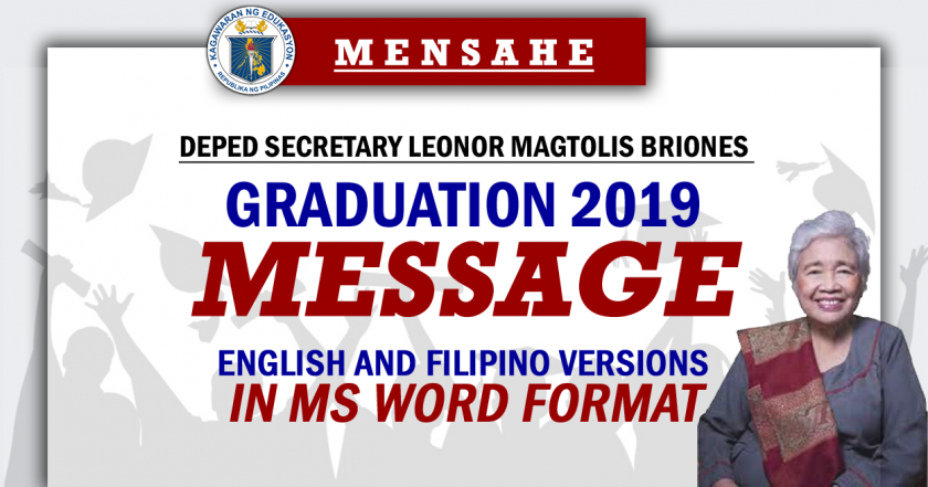 Graduation 2019 Message