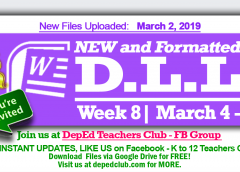 week 8 daily lesson log