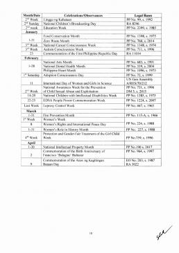 DepEd Calendar SY 2019 - 2020