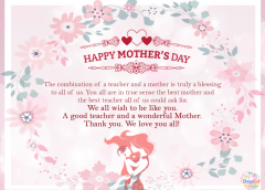 happy mothers day to teachers