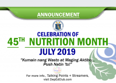 45th nutrition moth celebration