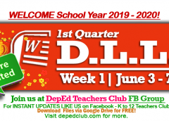 week 1 dll 1st quarter