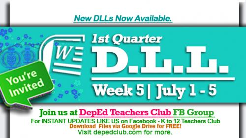 week 5 dll 1st quarter
