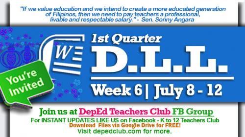 week 6 daily lesson log